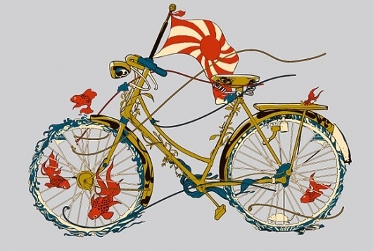 huebucket.com #flag #fish #bike