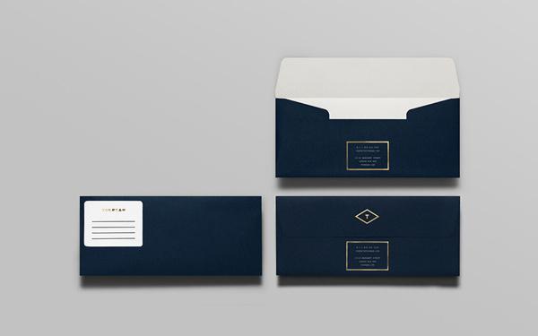 Tourean on Behance #envelopes #blue #branding