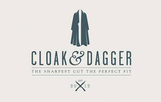 Cloak & Dagger - Christopher Doyle #ampersand #negative #space #branding