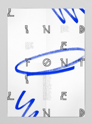 Lined font #oscar #pasterus #pastarus #poster #typography