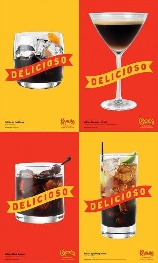 tumblr_m48datKsql1qm3r26o1_1280.jpg 600×1,000 pixels #red #yellow #design #liquor #advertising #kahlua