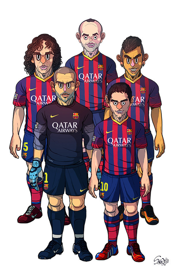 FC Barcelona / Real Madrid by Sakiroo Choi #fc #madrid #design #graphic #illustrations #real #barcelona #football