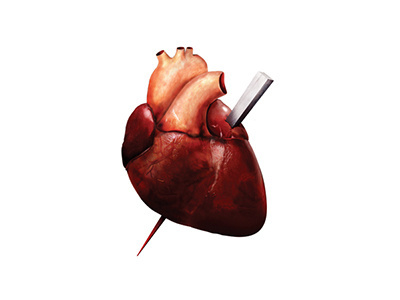 heart #heart #blood #red #anatomy #shirt #illustration #photoshop #realistic #metal #drawing