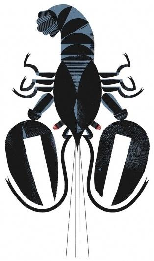 A Crayfish Silkscreen Print by raymondbiesinger on Etsy #print #crayfish #geometric