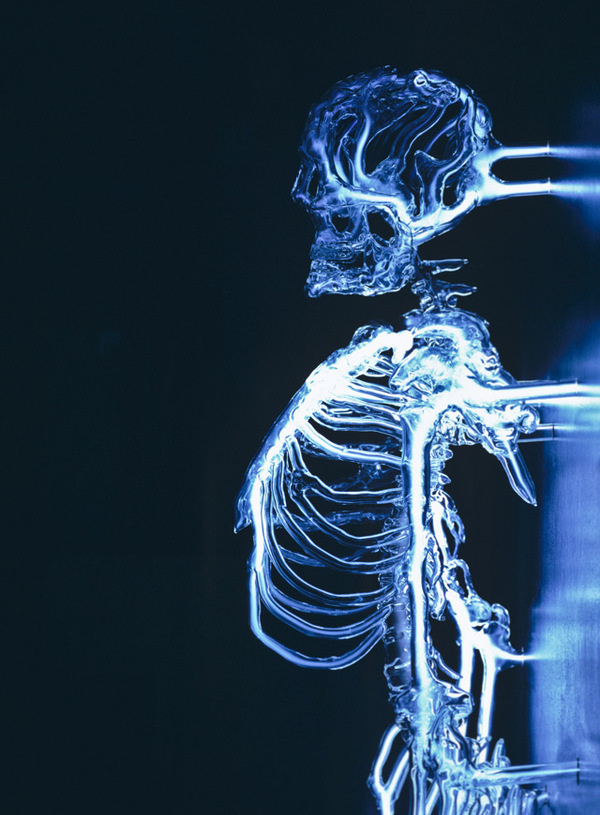 Embodiment: A Neon Skeleton by Eric Franklin #skeleton #light #neon