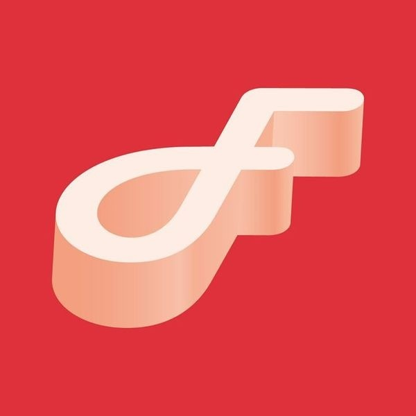 F entry for 36 days of type #vector #lettering #red #design #graphic #type #typography