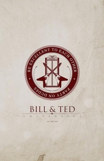 João Nóbrega, oliphillips: Bill & Ted University byJustin... #logotype