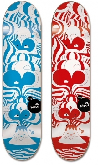 EMILKOZAK.COM » Flow Rupture #kozak #skateboard #illustration #emil