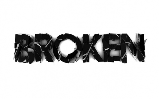 Broken type on the Behance Network