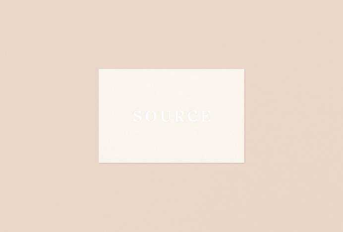 Source Skincare by Studio Crême #print #business #cards