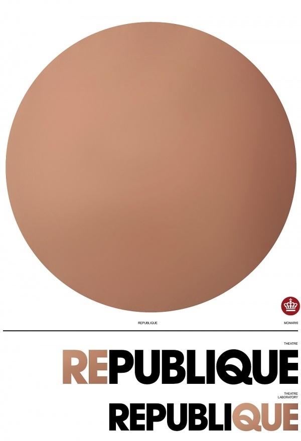 Republique Theatre S1 | Scandinavian DesignLab #theatre #design #poster #typography