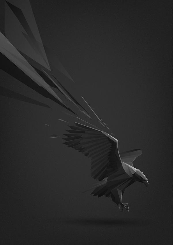 Animal illustrations on Behance #illustration #eagle #geometric #dimensional