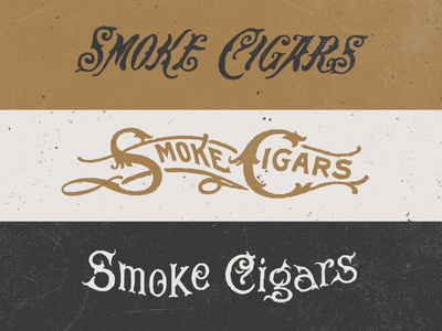 Cigar Type Options #lettering #typography