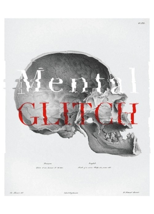 Experimenting with anatomy illustrations and computer glitch to create glitched posters. The idea is to show the imperfections of the Human #design #illustration #mental #glitch #art #skull