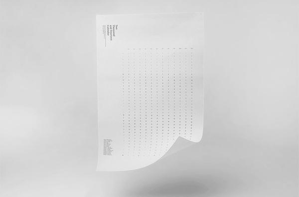 2014 Calendar — Vancouver Design Studio Calendar print design #inspiration #print #design #graphic #calendar #simple #minimal #poster #2014 #typography
