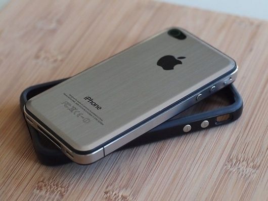 Add a Metal Back to Your iPhone 4 | Apartment Therapy Unplggd ($1-20) — Svpply #iphone #modern