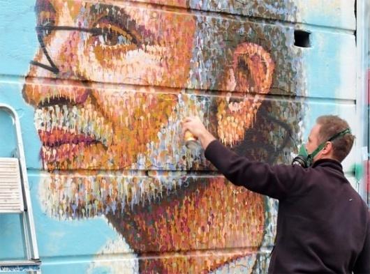 Pointillism Graffiti by James Cochran - Jared Erickson | Jared Erickson #graffiti #pointallism #art #street