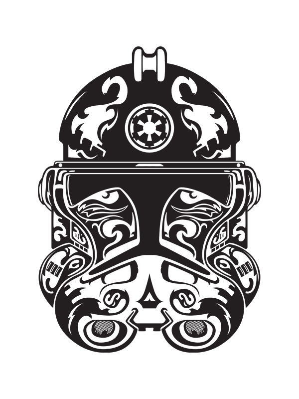 Stormtropper Laser Engrave - kudzd #trooper #illustration #storm