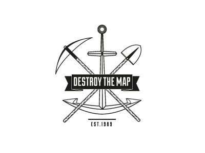 Dribbble - Destroy the Map | Graphics & Design by Destroy the Map, Graphics & Design #logo #map