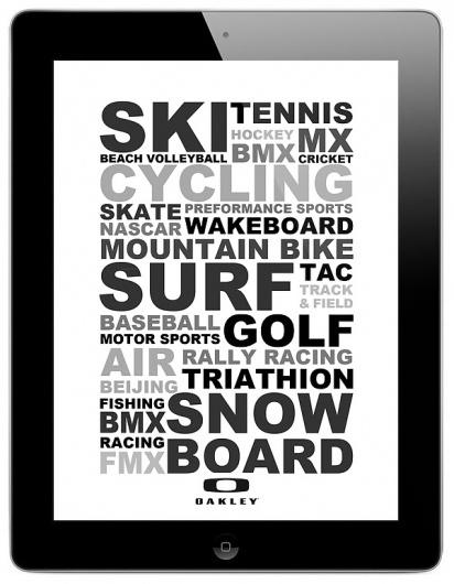Oakley on the Behance Network #glasses #ipad #sunglasses #oakley #screen #sport #typography