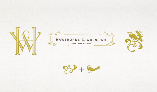 Kevin Cantrell Design/ Hawthorne and Wren #branding #design #kevin #logo #cantrell #typography