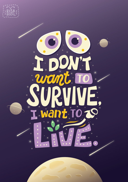 Art of Risa Rodil • Pixar Quote Posters 9/10: Wall-E #design #graphic #poster #typography