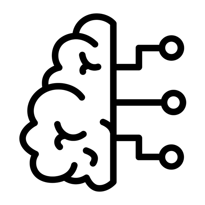 See more icon inspiration related to brain, AI, ui, healthcare and medical, automaton, futuristic, Science fiction, robotics, artificial intelligence, electronics, education, connection and technology on Flaticon.