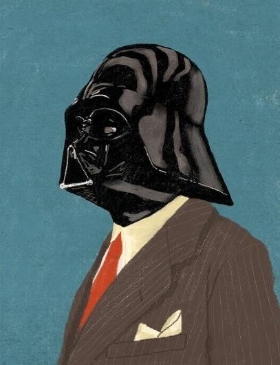 Star Wars Gentlemen от Chase Kunz | OSOMO #illustration #suit #wader