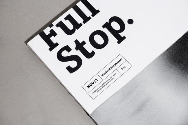 Full Stop. on Behance #magazine