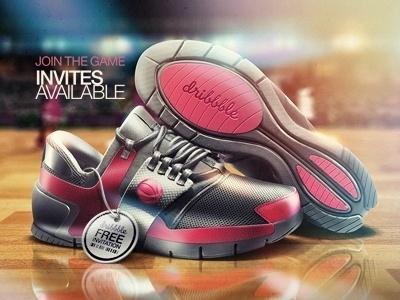 Dribbble - dribbble invites by Eddie Lobanovskiy #dribbble #shoe