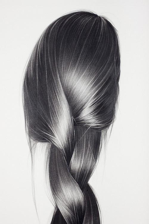 Hong Chun Zhang #hair #illustration #drawing #braid