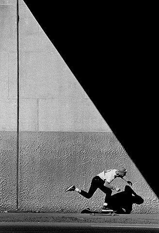 http://creaturesofcreativity.tumblr.com/ #shadows #white #black #skate #and #contrast