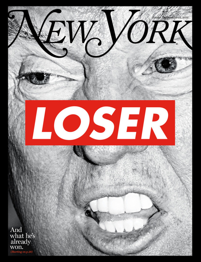 Barbara Kruger Calls Trump a Loser On the Cover of 'New York Magazine'