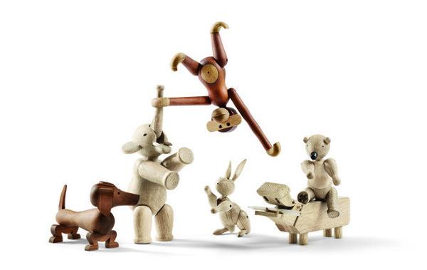 New Animals in the Ring #monkey #elephant #hippo #kay #wood #dachshund #bear #rabbit #bojesen #toy