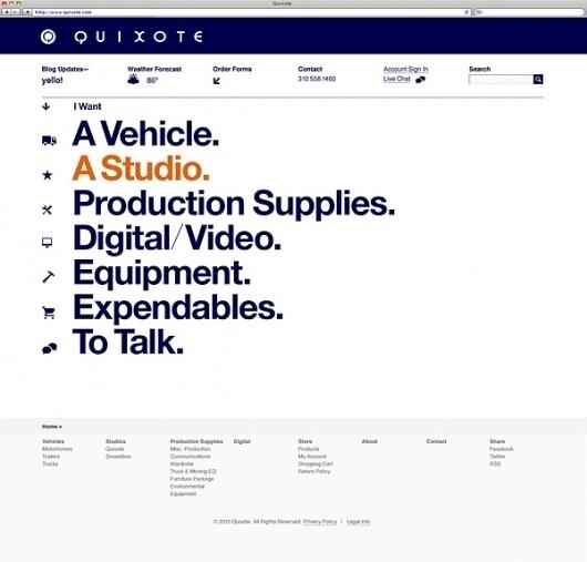 Quixote on the Behance Network #website #graphics #helvetica