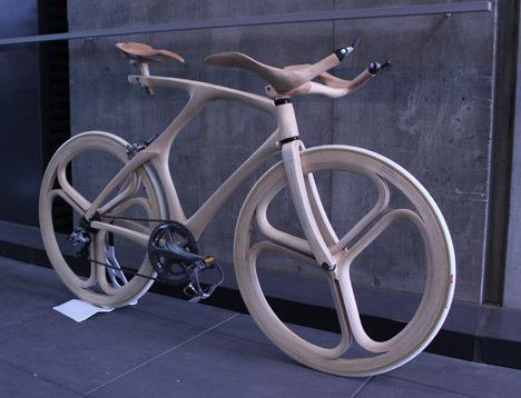 YojiroOshima WoodBike 3qFront.jpg #bicycle #wood #bike