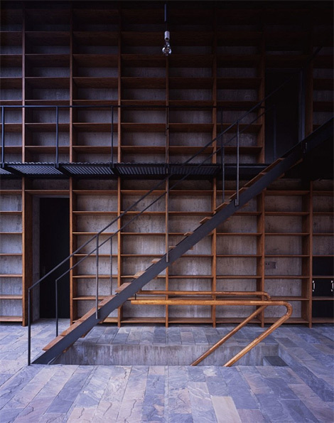 M3/KG #bookcases #libraries #interiors #wood #architecture #stairs