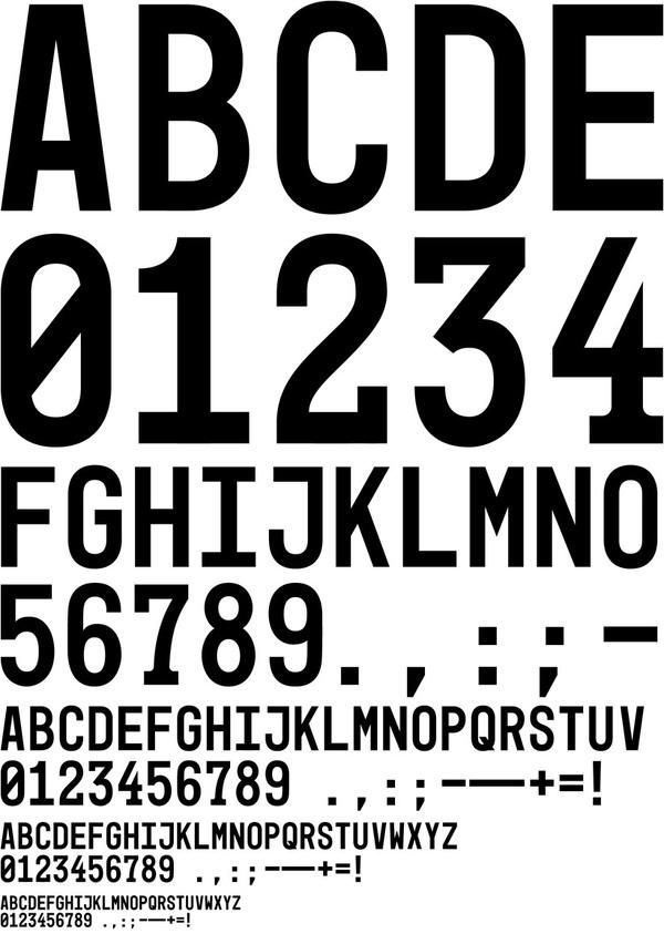 Mono45 Headline by Europa Type #font #typeface