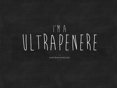 Jonisms (TM) // I'm a Ultrapenere #jon #speech #brand #illustration #identity #mono #studiojq #logo #postcard #typography