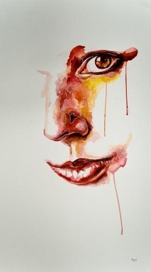 W. Graphic Art #illustration #portrait #watercolor #painting