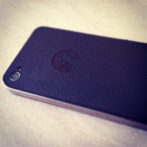 One of our Leather iPhone 4 back #iphone #apple #leather #craft