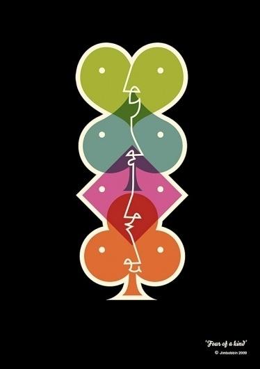 Jimbobbin – doodles by Jim Whittamore #diamond #color #ace #illustration #spade #poster #club