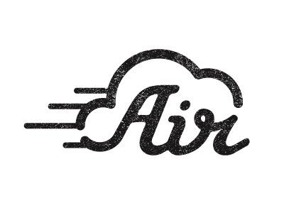 Dribbble - Air by Benjamin Colar #mark #logo #script
