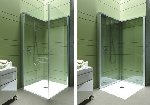 Folding Shower Enclosure by Duravit offers extra OpenSpace in compact bathroom | Trendir #shower #design #space #industrial #folding