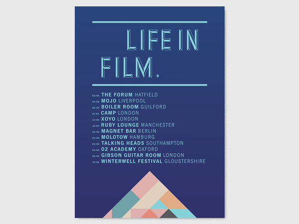 LIFE IN FILM FLYERS STUDIO MOROSS #print #flyer #geometric #moross #shape #kate
