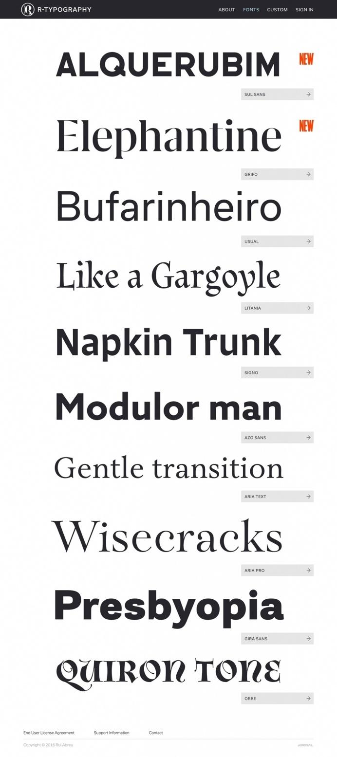 beautiful type foundry type r-typography website webdesign site of the day Rui Abreu mindsparkle mag designblog design designer modern