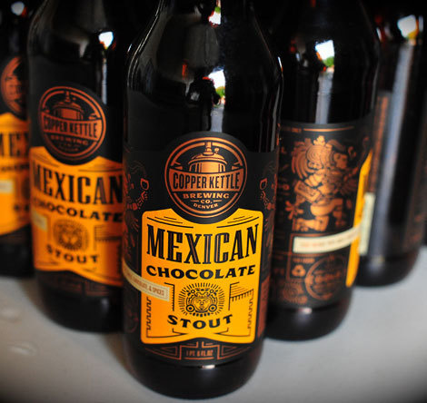 Copper Kettle Mexican Chocolate Stout Label #beer #illustration #design #typography