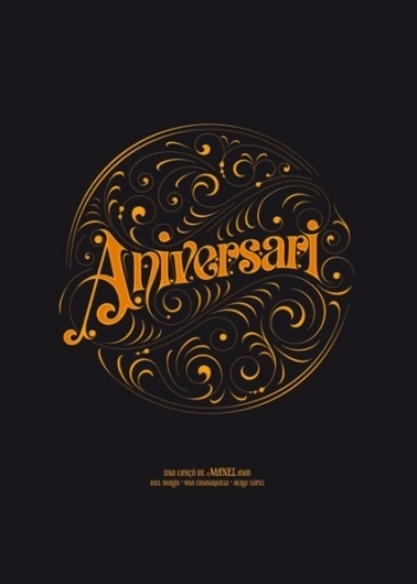 Aniversari on the Behance Network #type #typography