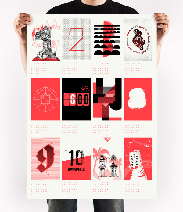calendar 2013 - upstruct on Behance #illustration #calendar #screenprint