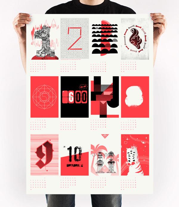 Calendar Design On Behance : Calendar upstruct on behance in poster